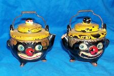 Old Salt and Pepper Shakers Shaker Funny Face Teapot Vintage Kitchen Table Odd