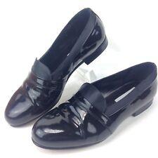 MEZLAN MIRAGE Tuxedo L Shoes Black PATENT LEATHER Made in Spain EU 41.5 US 8.5 W