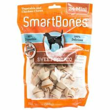 LM SmarBones - Sweet Potato Flavor Mini - Dogs up to 10 Lbs (24 Pack)