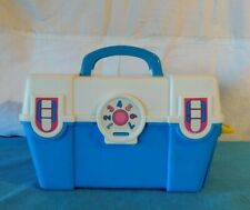 RARE Vintage 1991 Fisher Price Work Tool Box Kit Blue and White Portable
