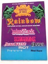 Original Historic MONTERS of ROCK 1980 tourbook RAINBOW  program NWOBHM