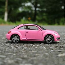 VW New Beetle Model Cars Toys 1:36 Open two doors Collection Pink Alloy Diecast