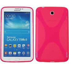 Funda de silicona Samsung Galaxy Tab 3 7.0 X-Style rosa caldo