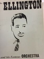 1951 Duke Ellington and His Famous Orchestra Concert Program and Newspaper Clips