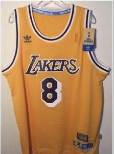 Kobe Bryant Gold LA Lakers Throwback Swingman Jersey Size XL