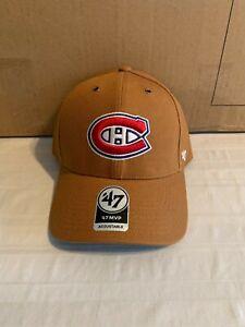 Montreal Canadiens NHL '47 Carhartt Mens Brown MVP Adjustable Hat Cap New