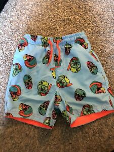 Boys Skull Swim Shorts 4-5