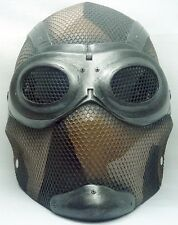 "Army of Two ""Thane 1"" (Noir) Desert Custom Fiberglass Paintball / Airsoft Mask"