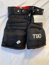 Sherwood T90 ice hockey goalie pants junior sz extra-large black new goal JR XL