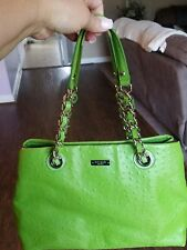 Kate Spade Victoria Falls Maryanne Shopper tote Apple Green Ostrich Embossed