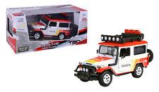 Toyota FJ40 SUV Land Cruiser Truck Die-cast Car 1:24 Motormax 7 inch 4x4 White