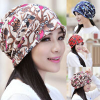 EG_ Women Fashion Cartoon Owl Winter Warm Beanie O-Ring Collar Scarf Gift Showy