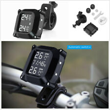 Motorcycle Tire Pressure Real Time Monitoring System With 2Pcs External Sensor
