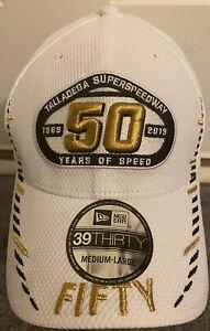 Nascar Talladega 50 Years Of Speed 50th Anniversary Men's Medium/Large White Hat