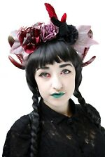 Dragon Rose Thrones Burlesque Halloween Rams Horn Headdress Headband Crown