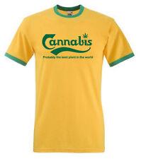 Cannabis T-Shirt Reggae Rasta Bob Marley Jamaica,Ska,Ganja,Weed, Ringer