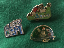 Pin's OM Football Soccer Olympique Marseille coupe d' Europe 91 Bari pins