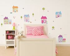 Children's Bedroom Happy Street Wall Stickers Stikarounds - 33 x Stickers