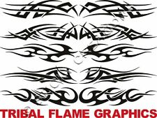 F TRIBAL FLAME Window Graphic Sticker Decals Front Rear