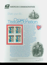 #3227 32c Organ Donor USPS #548 Commemorative Panel
