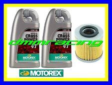 Kit Tagliando HUSQVARNA ATV 450 QM 04>07 Filtro Olio MOTOREX Cross Power 10W/50