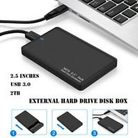 "2.5"" External 2TB Ultra Slim Hard Disk Drive USB 3.0 Data Storage Devices HDD"
