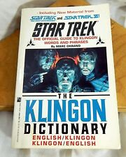 Star Trek The Klingon Dictionary Guide to Words and Phrases 1992