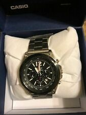 Casio Men's EFR-545SBDB Edifice Tough Solar Stainless Steel Watch NWD NWOT