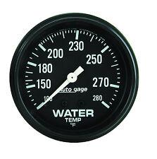 Auto Meter AutoGage 2 5/8in Mechanical 100-280 Deg F Water Temp Gauge (Black)