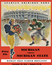 Michigan Art Poster of 1948 Game Program vs Michigan - 8x10 Color Photo