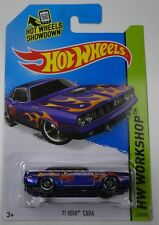 HOT WHEELS - 71 HEMI CUDA - HW WORKSHOP Chrysler Purple orange flames