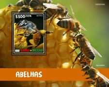 Guinea-Bissau Bees Stamps 2020 MNH Dwarf Honey Bee Insects 1v S/S