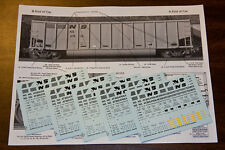 Norfolk Southern Class G116, G117, G118 Hopper DECALS HO170 5 Set Painter Pack