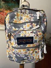 Jansport Hawaiian Floral Frangipani Plumeria Flower Print Backpack BIG STUDENT
