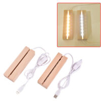 Wooden Led Lamp Base USB Cable Switch Night Light 3D Led Night Lamp B DH#
