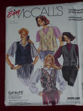 McCALL'S #0021-LADIES ( 4 STYLE ) LOOSE FITTING BUTTON DOWN VEST PATTERN 8-18 FF