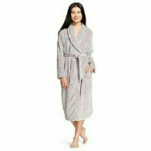 Gilligan & O'Malley Women's Luxury Plush Super Soft Robe Grey M/L 2 pocket Soft