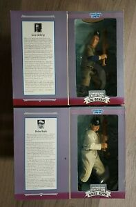 """1996 Starting Lineup Cooperstown Collection 12"""" Figures -BABE RUTH & LOU GEHRIG"""