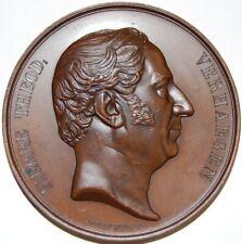 BELGIUM-1852 BRONZE TRIBUTE MEDAL TO P.T. VERHAEGEN