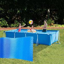 Rectangular Swimming Pool Cover Solar Heating Waterproof Dust Cover 260X160cm
