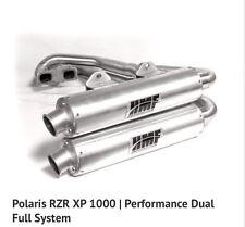 HMF Polaris RZR XP 1000 2014 Performance Series Dual Full Exhaust Muffler