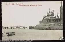 1159.-ZARAGOZA -363 Templo del Pilar y Puente de Piedra (C. y A.)