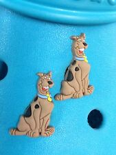 2 Scooby Doo Shoe Charms For Crocs & Jibbitz Wristbands. Free UK P&P.