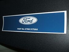 #NEW# 'FORD' DIESEL FUEL FILTER DECAL FOR CLASSIC FORD 4100/4600 SERIES TRACTORS