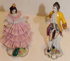 Vintage Lady with Frog with Germany Dresden Mark and X (or crossed swords?)