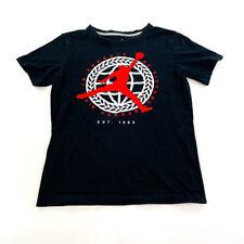 Jordan Shirt Youth Medium Black White Red Flight Basketball Jumpman Kids Boys