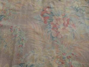 Lambskin sheepskin leather hide Perforated Vintage Colorful Floral Print