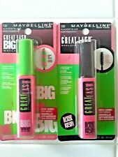 Maybelline Great Lash 100 & Big Lash Mascara 130 Blackest Black Thickens 2x