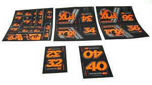 2020 Fox Racing Shox Heritage Decal Kit / 32, 34, 36, 40 / Fork + Shock