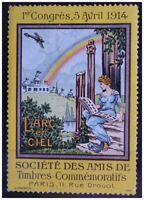 SOCIÉTÉ TIMBRE COMMÉMORATIF 1914 PARIS DROUOT ANCIEN TIMBRE CINDERELLA PHILATELY